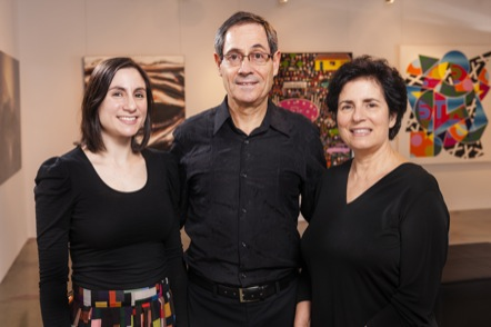 Gallery Directors  Naomi Mossenson, Dan Mossenson and Dr Diane Mossenson