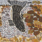 K0028-14 Betty Bundamurra Ulidji (the whale) 76x76cm