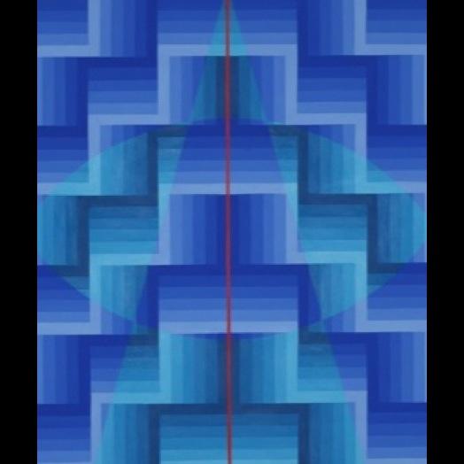 Symmetrist 1 2017 acrylic on canvas  106.5x78.5cm for web