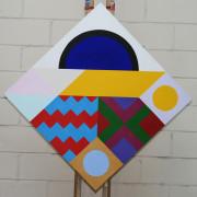 Heraldic 6 2020 acrylic on canvas 56x56cms COL00235 crop