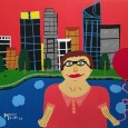 ME00001 Martin in the city of Perth 76 x 102cm
