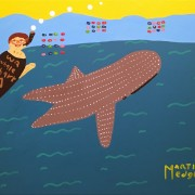 ME00007 Martin swimming with whale shark