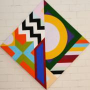 Escutcheon 9 2020 acrylic on canvas 168x168cms COL00228 crop