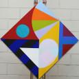 Heraldic 2 2020 acrylic on canvas 65x56cms COL00231 crop